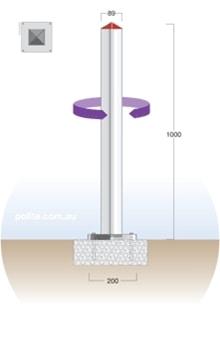 Standard Square Bollard (Twist Lock) | SSA-1TL